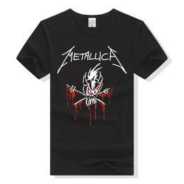 $enCountryForm.capitalKeyWord UK - LEQEMAO Rock Band Metallica T Shirt Skull T-Shirt Men Women Tee Shirt New Fashion Streetwear Hiphop