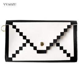 Discount pixel pocket - 3D Pixel Clutch Bag Women Hand Bag You've Got Mail Female Women Evening Clutch Bags PU Leather Handbags Envelope Day