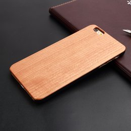 Luxury I Phone Case Canada - Deluxe luxury wood case for iPhone 6 6s 5 5s se,clear color hybrid cell phone cases for i Phone 5 6 s