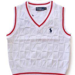 Venta al por mayor de Chaleco para niños Suéter clásico Nuevo algodón cálido para niños Versión coreana Niños niñas chaleco sin mangas Suéter para niños