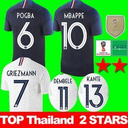 dos estrellas France soccer jersey football shirt Francia Camisetas de  fútbol 2018 copa del mundo Maillot de foot equipe GRIEZMANN POGBA MBAPPE  MARTIAL ... cc9bb51610bd4