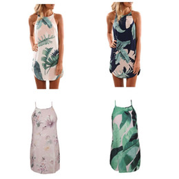 d823fb1f59c2 Women Bohemian Dresses Plus Size Spaghetti Strap Floral Print 4 Design  Patterns O Neck Loose Beach Clothes