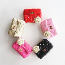 85052c4f76 Fashion Kids Purse Stylish Baby Leather MINI Bag Beads Camellia Toddler  Girl Messenger Bags Baby Products Designer Purses Girls accessories