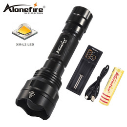 Flash Drive Battery NZ - AloneFire X510 Cree XM-L2 Tactical Flashlight Torch Zoom Linternas LED Flash light For 1 x 18650 Battery