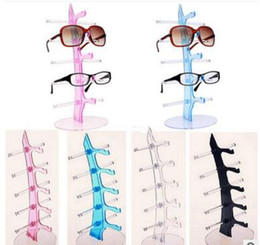 wholesale sunglasses display UK - Wholesale - mix Color Sunglasses Showing Colorful Racks Eyeglasses Frame Display Holder Stand High quality free shipping