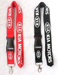motor electronics 2019 - The charisma of a car KIA MOTORS Lanyard Keychain Key Chain ID Badge cell phone holder Neck strap black.