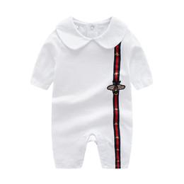 bf4109a69e60 Retail Cartoon Baby Romper Spirng Otoño de manga larga Baby Boy Girl Romper  Infant Warm Jumpsuit Niños Algodón bebé vestir