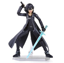 Chinese  New Arrival Sword Art Online kirigaya kazuto Figma toys PVC Action Figure Collectible Model Toy 15CM manufacturers