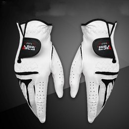 White summer gloves online shopping - Men Left Right Hand Sheepskin Glove With Anti Slip Granules Genuine Leather Golf Gloves Soft Breathable Sports Accessories White xs UU
