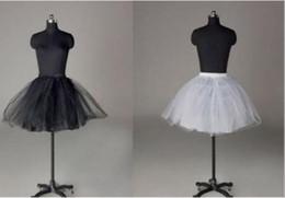$enCountryForm.capitalKeyWord Australia - Top Sale White Black Short Party Short petticoat wedding bridal Tulle Accessories underskirt slip Crinoline 2018