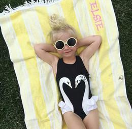 $enCountryForm.capitalKeyWord Australia - Children Summer Swimwear Baby Girls One Piece Swimming Suits Penguin Swan Flamingos Digital Printing Cartoon Kids Swimsuit With Hat Best