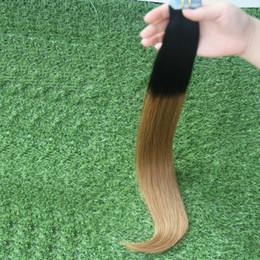 apply hair Australia - 1B 6 tape in human hair extensions 100g Straight Tape Apply Ombre Tape Hair Extensions 40pcs Skin Weft Hair Extensions Ombre