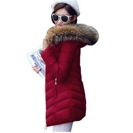 $enCountryForm.capitalKeyWord NZ - Real Fur Winter Women Jacket Women 2018 Raccoon Fur Collar Hooded Collar Down Jacket Female Slim Warm Thick Cotton-Padded Parkas