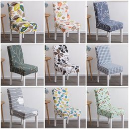 Chair Factories Australia - Factory Direct Printing covers universal size Chair cover seat Chair Covers Protector Seat Slipcovers for Hotel banquet home wedding decorat