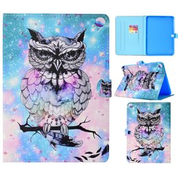 character inch tablet cover NZ - Tablets Case For Samsung Galaxy Tab S3 9.7 inch T820 Cover Painting PU Leather Wallet Bags Card slot Dormancy function QJW5EPNBTR