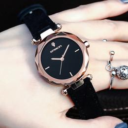 Dark Pink Bracelet NZ - 2019 Cheap Gift Wristwatches for Ladies Women Genuine Leather Strap Quartz Watches Leisure Dress Bracelet Clock Analog Reloj Mujer Saat