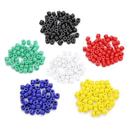 movies accessories UK - 40gram lot(about80pcs) Loose Beads For DIY Home Made Bracelet Glass Beads Jewelry Accessories With Diameter 7mm*Hole Dimater 2.8mm Colored