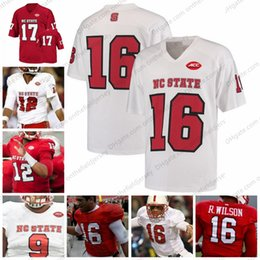 NC State Wolfpack NCAA Football Jerseys  9 Mario Williams 12 Jacoby  Brissett 16 Russell Wilson R.Wilson 17 Philip Rivers white red S-3XL 963106bdc
