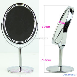 hot normal women 2019 - Ellipse Women Mini Makeup Cosmetic Dual 2Sided Normal + Stand Mirror #Y207E# Hot Sale discount hot normal women