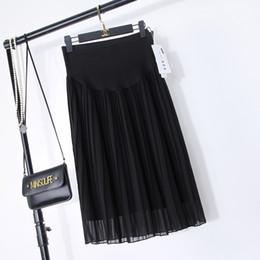 79f3227c9fd87 Pregnant Women Skirts Canada - A Line Pleated Chiffon Maternity Skirts  Summer New Fashion Elegant Skirts