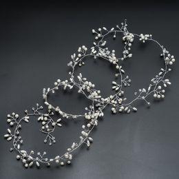 Pearl Bridal Jewellery Australia - 2018 New Design Handmade Pearl Crystal bridal wedding headwear Jewellery pearl headwear that makes you more beautiful lady