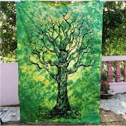 Floral Mandala Bohemian Yoga Mat Tapestry Sunscreen Shawl Beach Towel Hippie Tablecloth Wall Hanging Soft Picnic Pads150*130cm AAA46 on Sale