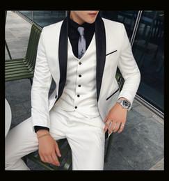 $enCountryForm.capitalKeyWord NZ - Hot Selling Shawl Lapel Custom Color One Button Groom Tuxedos Men Suits Wedding Prom Dinner Best Man Blazer(Jacket+Pants+Tie+Vest) m691