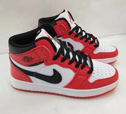 Carolina do Norte azul sapatos masculinos oreo Chicago branco vermelho GS sapatos femininos Joe 1 feng shui alta top tênis de basquete venda por atacado