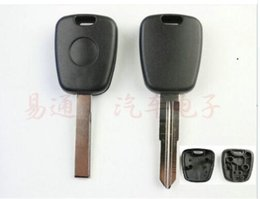 Benz Smart Key Shell Australia - 2pcs x Universal Key Shell For Peugoet With Chip Slot And Key Blade