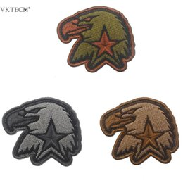 Discount tools sew patch - Eagle Head Morale Arm Badge Patches DIY Sewing Clothes Hangbag Patch Appliques Embroidered Patch Paster Sewing Tools Acc