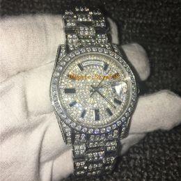 Luxury Watch Diamond Watch Alta qualità 2836 Automatic Men Waterproof 36MM Mechanical Acciaio inossidabile 316 Set con diamanti Sweep Move