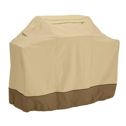 Wholesale cloth bamboo online shopping - Waterproof BBQ Cover Dustproof Oxford Cloth Large Practical Covers Gas Barbecue Grill For Patio Protector Dust Guard rs4 Z