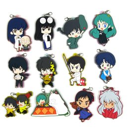 japanese phones 2019 - Inuyasha rumiko takahashi Original Japanese anime figure rubber mobile phone charms keychain strap D200 discount japanes