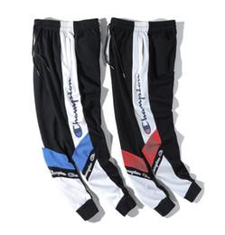 17b687bb5f2 Pantalons pour hommes de mode tendance explosion modèle lettre mosaïque