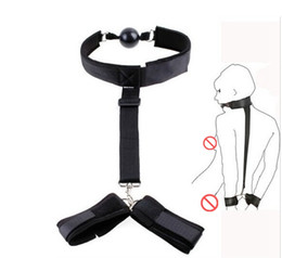 free bdsm harnesses 2019 - Wholesale harness nylon belt Sex Toys with ball gag SM Appliances for couples gay bdsm bondage erotic toys tools free sh