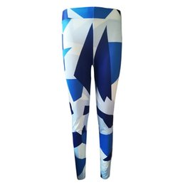 $enCountryForm.capitalKeyWord Australia - CALOFE Blue Geometric Pattern Hip Sport Leggings Tights Fitness Gym Sportswear Printed Training Exercise Yoga Pants