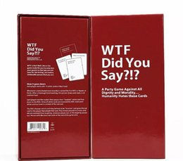 say toys Australia - WTF Did You Say A Party Game Against All Dignity and Morality Full Game paper cards 1 Set of 594 Cards
