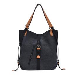 8d4ff1a490 Women s Canvas Totes Vintage High Quality Female Hobos Shoulder Bags Lady  Solid Color Hasp handbag women bag torebki damskie  W