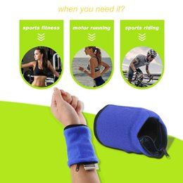 $enCountryForm.capitalKeyWord NZ - Wrist Support Multifunctional Outdoor Gym Cycling Hiking Wrist Wallet Sweat Absorption Travel Sport Zipper