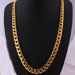 rappers chains NZ - Punk Hip-hop Cuban Link Gold Chain Rapper Men Necklaces Street Fashion Popular Metal Alloy Long Chain Decorative Jewelry Present