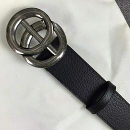 Las importaciones de cinturones de alta calidad del diseñador de la moda realmente la correa de cuero de la manera de los hombres grandes de la moda diseñan los cinturones de la marca de lujo de la correa con la caja