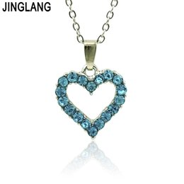 nice romantic flower NZ - JINGLANG Heart Shaped Friend Pendant for Necklace Romantic Fashion Jewelry Nice Mother's Day Gift