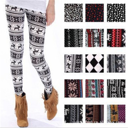 Flat Oxfords New Style Women NZ - 2018 New Style Women Fashion Winter Warm Straight Fit Pant Snowflake Legging All Match Christmas Deer Snow Pant YWOM9173