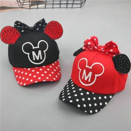$enCountryForm.capitalKeyWord Australia - 2018 new baby hats spring and summer 1-6 years old cotton children's baseball caps polka dot bow hat outdoor leisure cap beanies