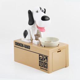 China Stealing Dog Coin Bank Money Saving Box Piggy Bank Funny Cute Hungry Robotic Dog Eat Coin Piggy Bank Creative Gift For Kids cheap box eat suppliers