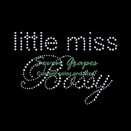 Little Miss Bossy Rhinestone Transfer Designs Para T-Shirts