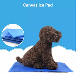 Small Coolers Wholesale NZ - Summer Canvas Ice Pad Pet Dog Kitty Cooling Bed Ice Cushion Blue Ice Cool Pad pet soft Pad cooling Cats Dogs mat