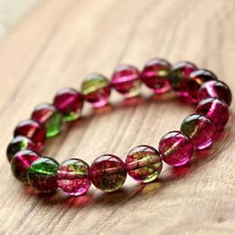 $enCountryForm.capitalKeyWord Canada - 6 8 10 12MM Natural Watermelon Crystal Bracelets Multi Size Tourmaline Crystals Quartz DIY Jewelry Hand Chain Hand String