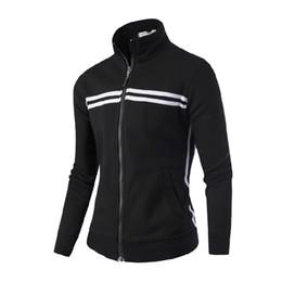 $enCountryForm.capitalKeyWord NZ - Running Jacket Men's Winter 2018 Casual Blue Long Sleeve Coat Windbreaker Black Plus Size Slim Zipper Cotton Jacket Men's M-4XL