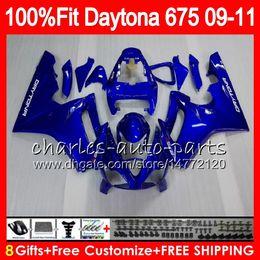 Triumph 675 Fairing 11 Canada - Injection For Triumph Daytona 675 09 10 11 12 Bodywork 107HM.0 Daytona-675 Daytona675 Daytona 675 2009 2010 2011 2012 Fairing Glossy blue